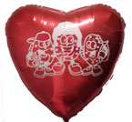 """Campus Cookies 18"""" Red Heart Shaped Mylar Balloon"""