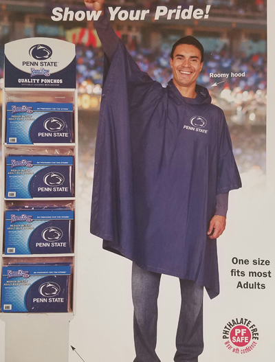 VIRGINIA TECH MEDIUM WEIGHT ADULT RAIN PONCHO