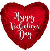 "17"" Happy Valentine's Day Rose Petal Foil Balloon"