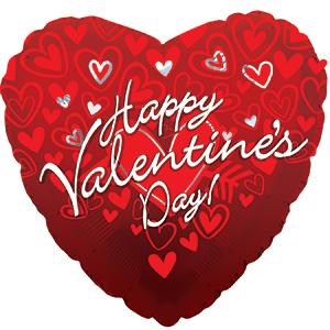 """18"""" Happy Valentine's Day Gradient Balloon"""