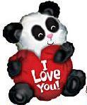 "Mylar - 20"" I Love You Panda Bear (Hover Balloon)"