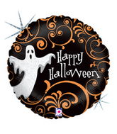 "18"" Ghostly Filigree Balloon"