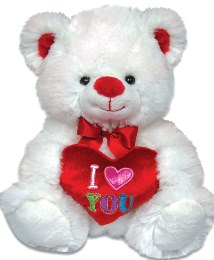 """9.5"""" Sitting Valentine Bear Package: Available for Delivery February 11th - 15th"""