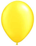 Yellow Helium Filled Balloon