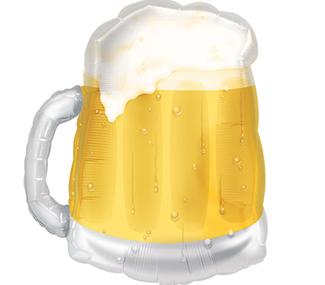 "23"" Jumbo See Through Glass Beer Balloon"