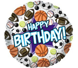 """18 """" Happy Birthday Sports"""