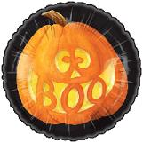 """Mylar - 18"""" Boo Pumpkin Halloween"""
