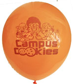 "12"" Campus Cookies Latex Orange with Maroon Imprint"