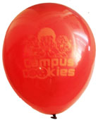 "12"" Campus Cookies Latex Maroon with Orange Imprint"