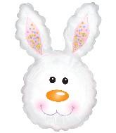 """30"""" Bunny Head Polkadots Balloon"""