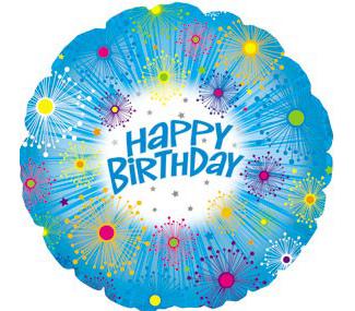 """Mylar - 18"""" Happy Birthday Glitters"""