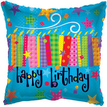"18"" Happy Birthday Candles"