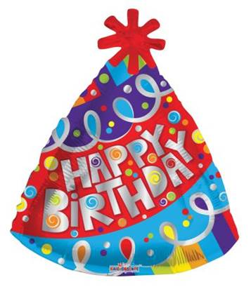"18"" Happy Birthday Party Hat"