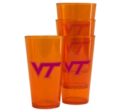 Virginia Tech 2pk Plastic pint