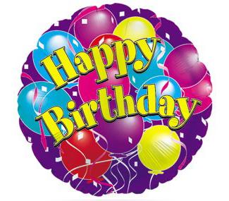 "Mylar - 18"" Happy Birthday Purple Balloon"