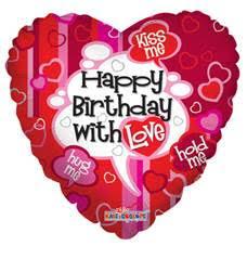 "18"" Happy Birthday with Love"