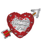 "36"" Happy Valentine's Day Arrow Balloon"