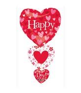 """36"""" SuperShape Valentine Stacker Balloon"""