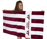 PREMIUM VIRGINIA TECH BEACH TOWEL