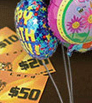 Gift Cards & Balloons!