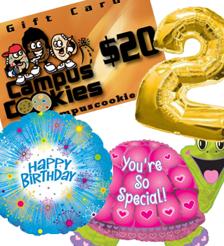 Gift Cards, Balloons and More!
